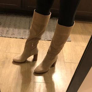 Michael Kors Diva suede boots. Like new